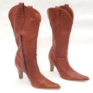 ❤ Migliorini Italian Leather Heeled Boots Size 38